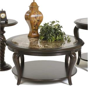 Bernhardt Belmont Round Cocktail Table with Marble Inset