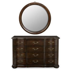 Bernhardt Belmont Dresser and Round Mirror