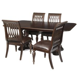 Bernhardt Belmont Double Pedestal Table and Side Chairs Set