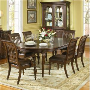 Bernhardt Belmont Round Table and 6 Chair Dining Set