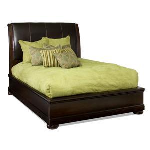 Bernhardt Belmont Queen Leather Platform Sleigh Bed