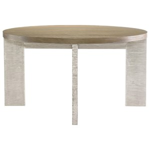 Round Dining Table with German Silver Base