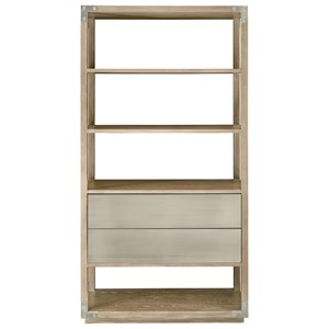 Industrial Etagere with Two Drawers