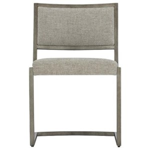 Contemporary Metal Side Chair with Upholstered Back and Seat