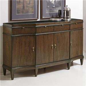 4 Door Buffet with Fluting Detail