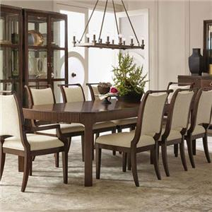 Dining Table with Fluted Legs
