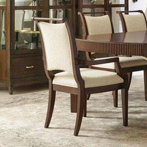 Upholstered Arm Chair with Tapered Legs