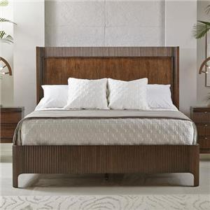 Queen Panel Bed with Fluted Frame