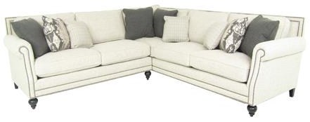 Five Seat Sectional Sofa with Transitional Style