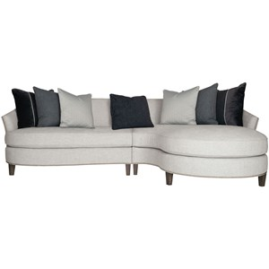 Contemporary 2-Piece Sectional with Nailhead Trim