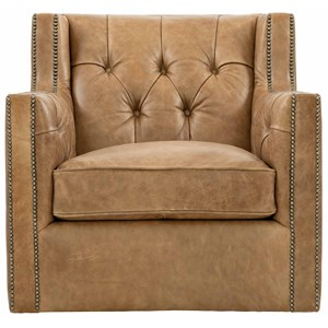 Footless Chair with Nailhead Trim