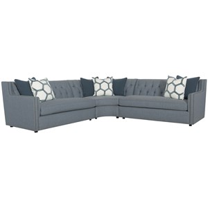 Sectional with Nailhead Trim