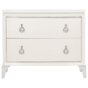Transitional Nightstand with Hanging Drawer Pulls