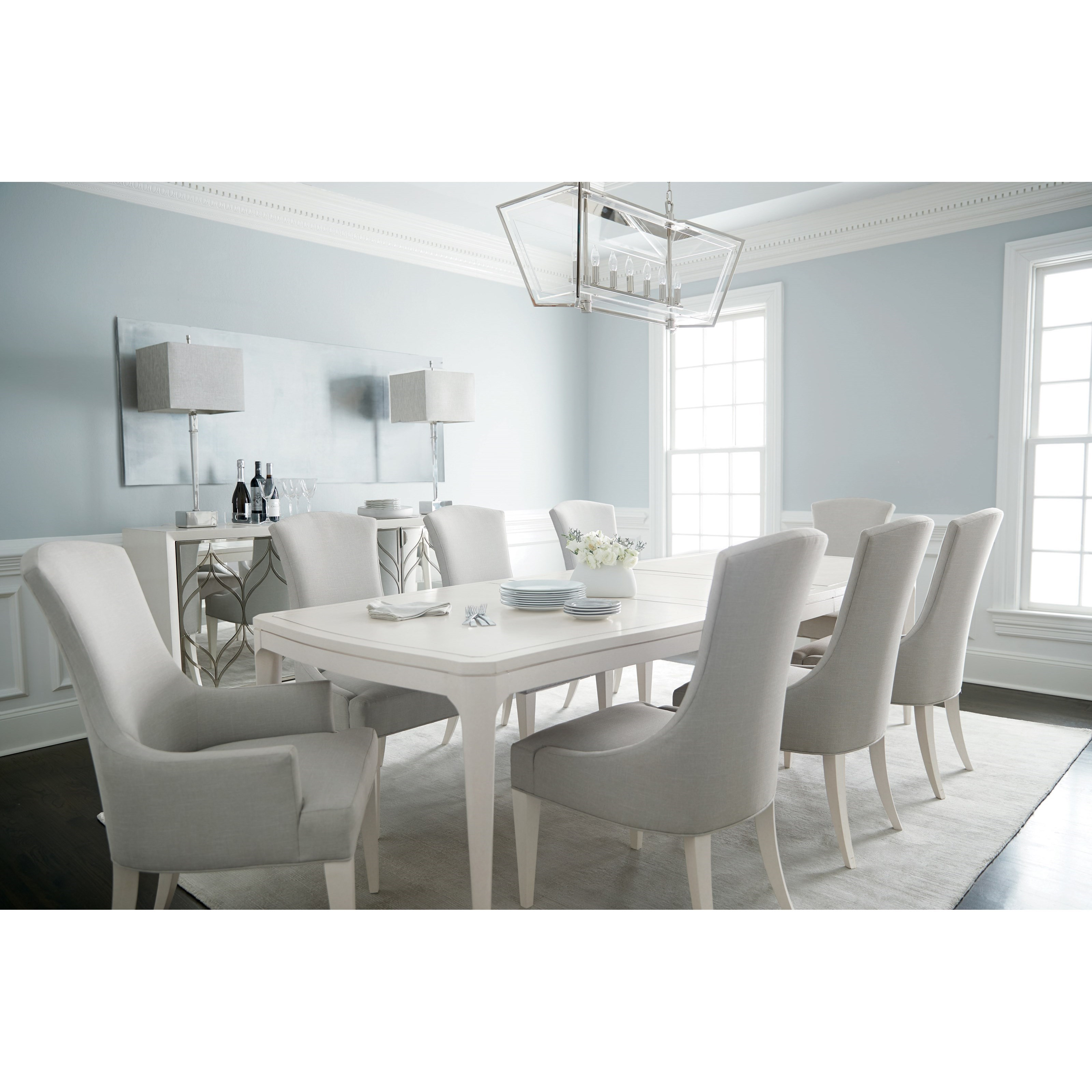 Calista 9 Piece Table and Chair Set by Bernhardt at Baer's Furniture