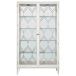 Transitional Curio Cabinet with Glass Doors