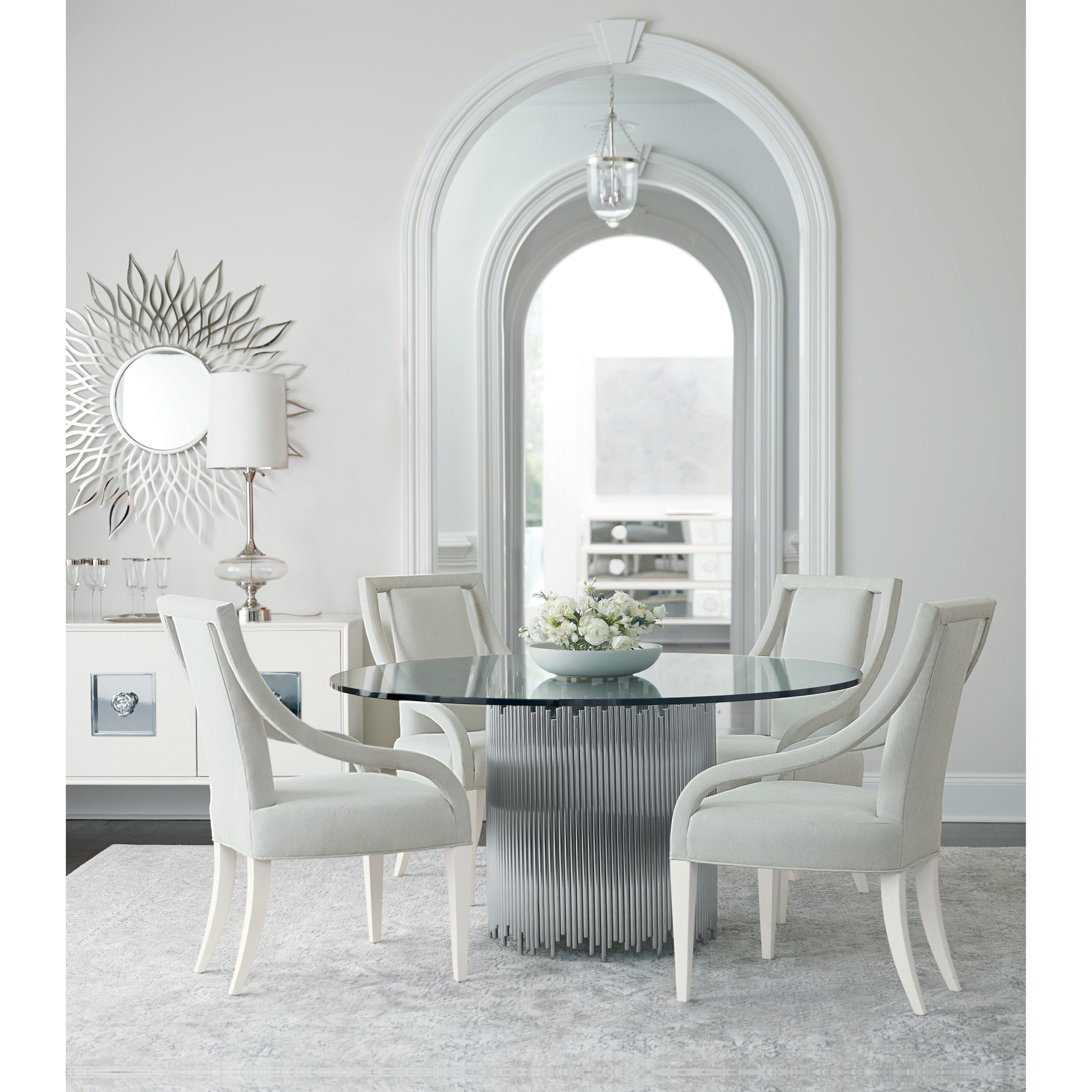 Calista 5 Piece Table and Chair Set by Bernhardt at Baer's Furniture