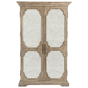 Armoire with Inset Antique Mirrored Glass