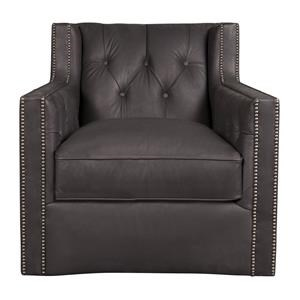 Candace *Leather-Match Swivel Chair