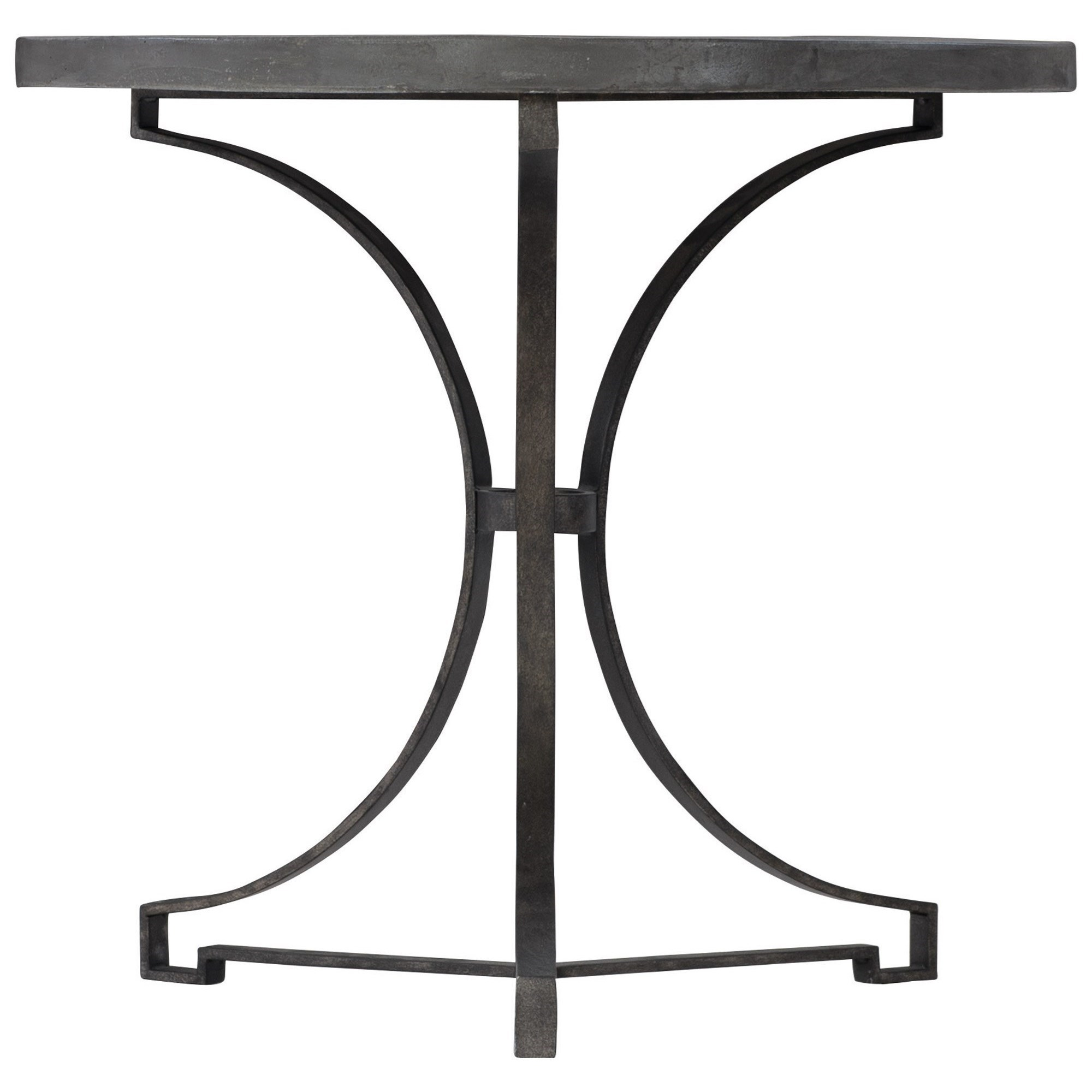 Canyon Ridge Round Metal Side Table by Bernhardt at Darvin Furniture