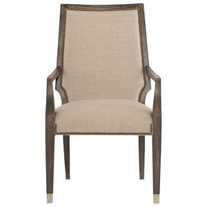 Upholstered Dining Arm Chair with Nailhead Trim