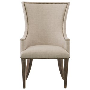Upholstered Host Arm Chair