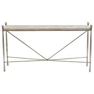 Console Table with Crystal White Stone Top