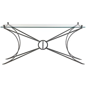 Contemporary Console Table with Glass Top