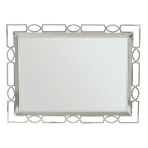 Metal Mirror with Open Fretwork Frame