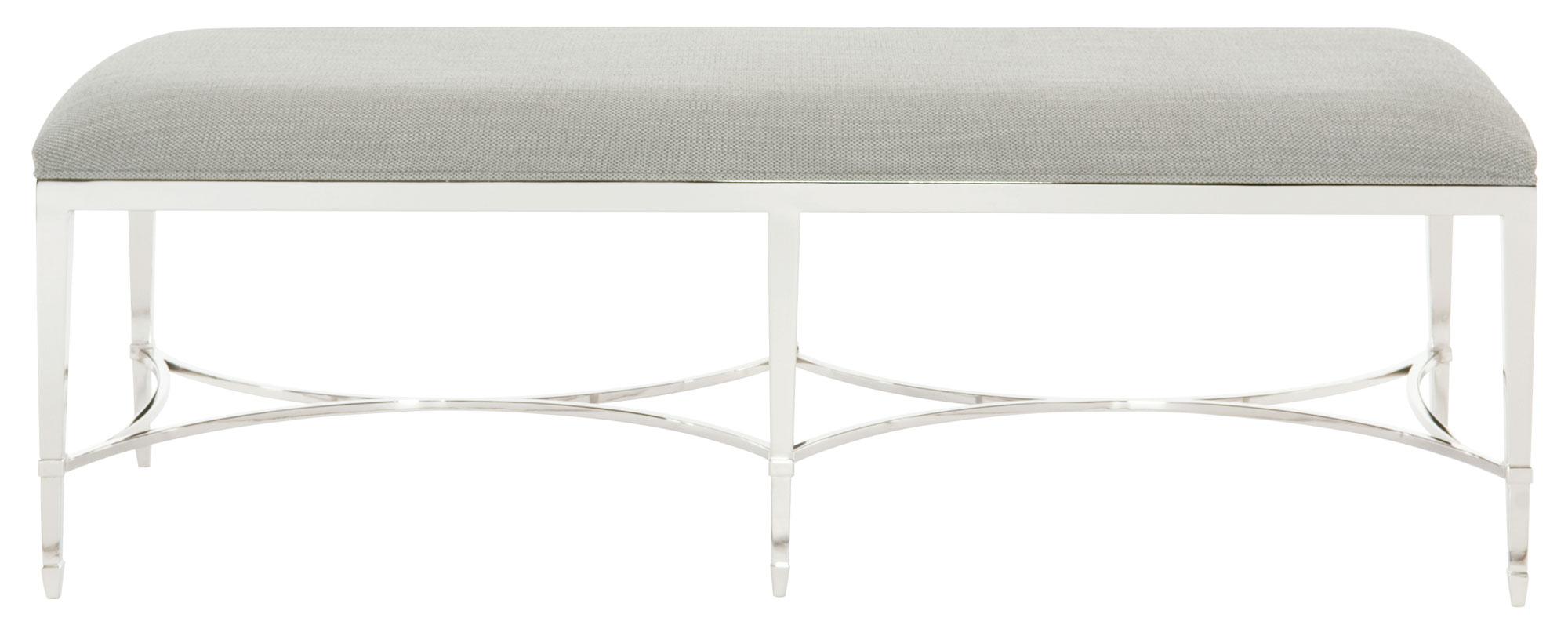 Criteria Metal Bench by Bernhardt at Baer's Furniture