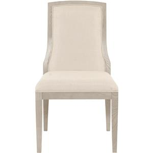 Upholstered Side Chair with Exposed Splat