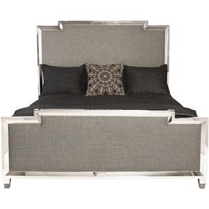 Customizable King Metal Upholstered Bed