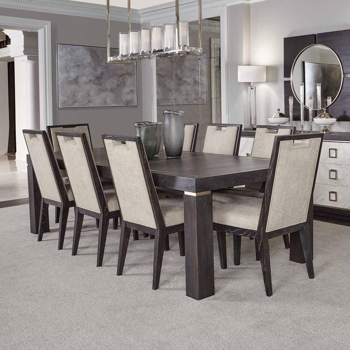 Decorage 9 Piece Table and Chair Set by Bernhardt at Baer's Furniture