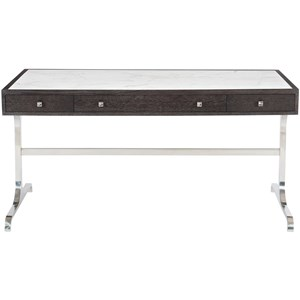3 Drawer Desk with Laminated Marble Top