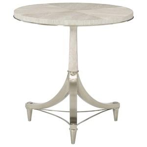 Round Pedestal Chairside Table