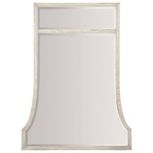 Transitional Mirror with Top Panel