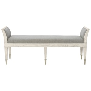 Transitional Upholstered Bench with Arm Panels