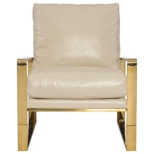 Chair with Gold Metal Frame