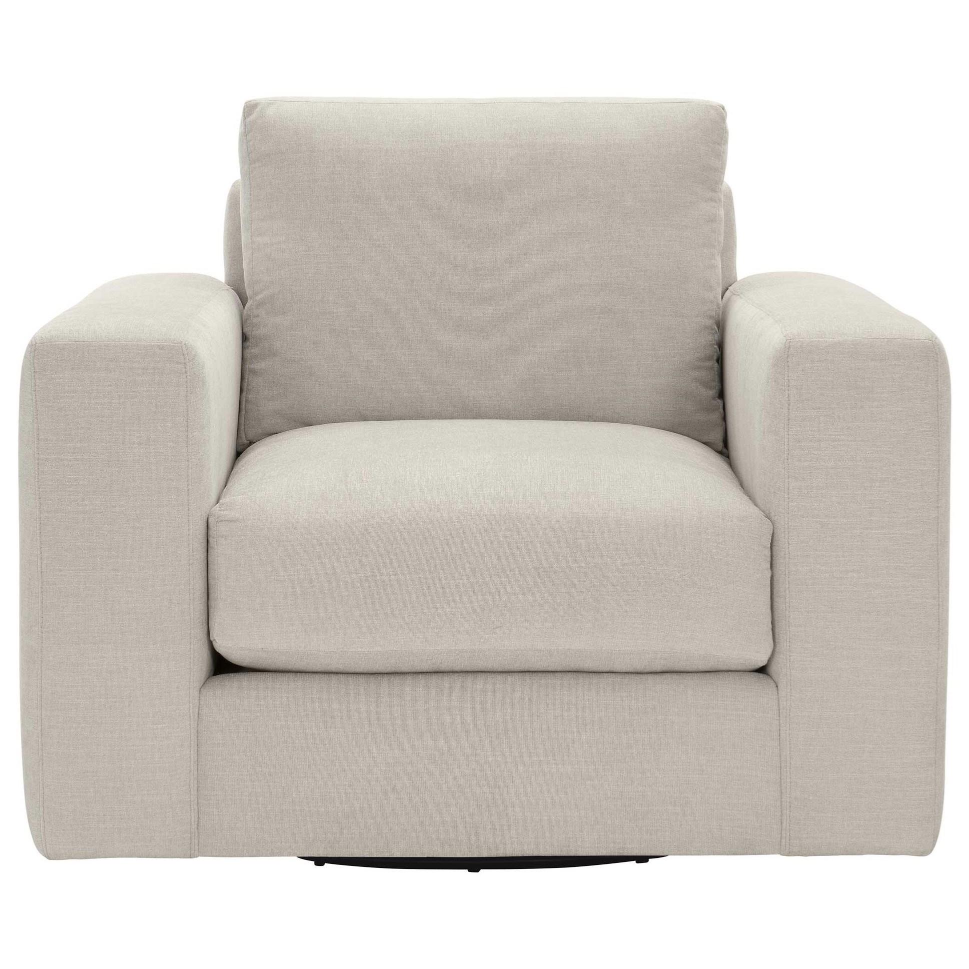 Drew Swivel Chair by Bernhardt at Dream Home Interiors