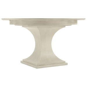 "Transitional Round Dining Table with 20"" Leaf"