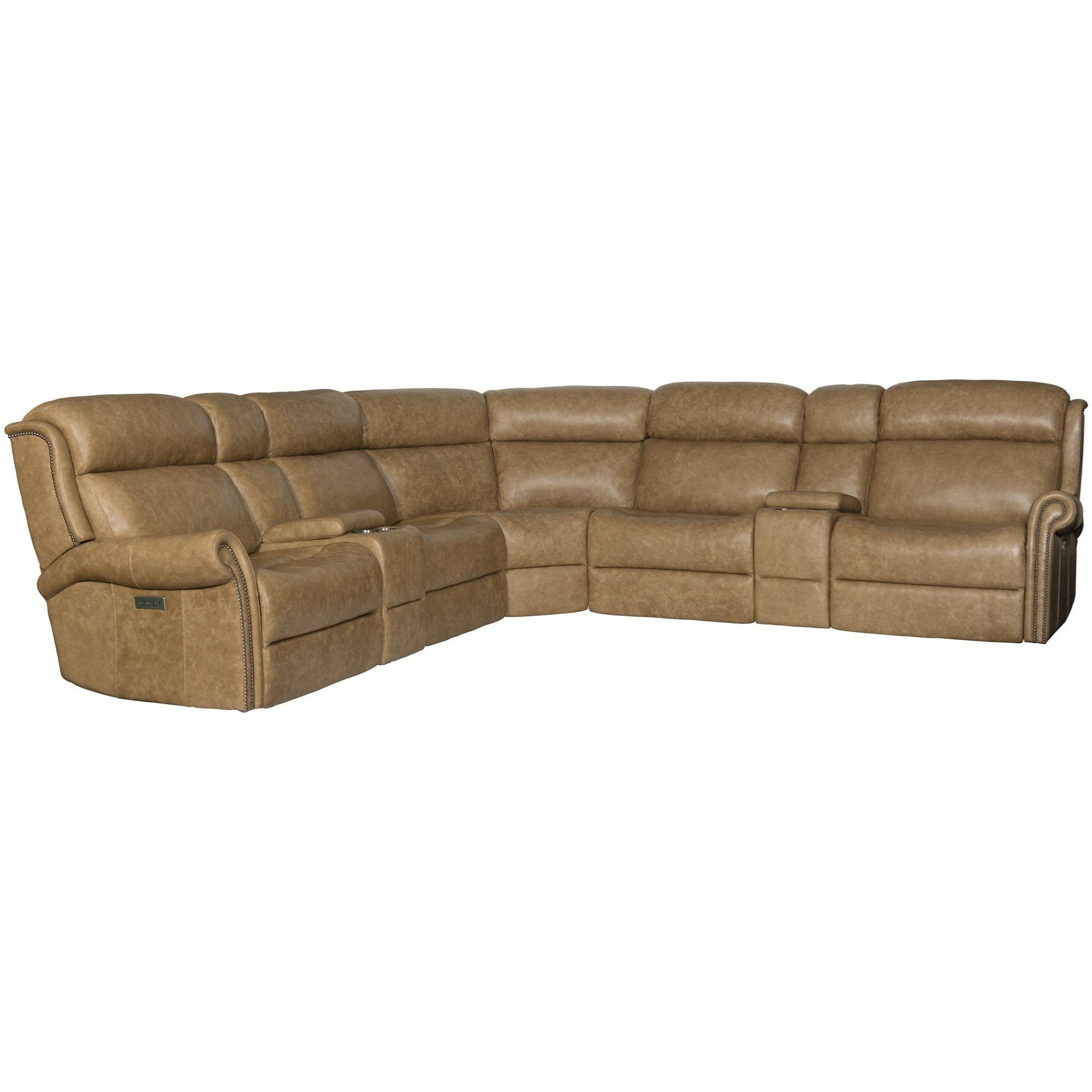 Evan Power Motion Reclining Sectional Sofa by Bernhardt at Thornton Furniture