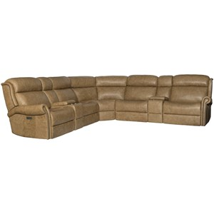 Traditional Power Reclining Sectional Sofa with Power Tilt Headrests and USB Charging Ports