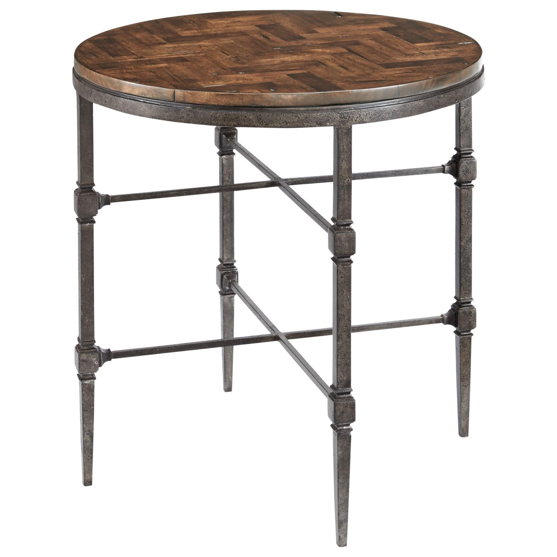 Everett Round Herringbone End Table by Bernhardt at Fisher Home Furnishings