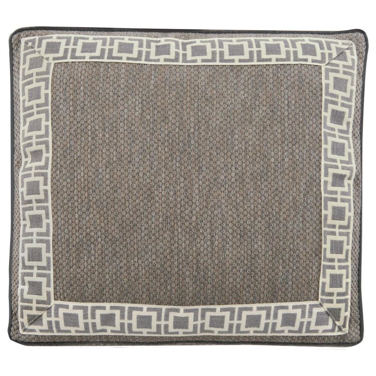 Exteriors - Accent Pillows Accent Pillow with Square Box Border at Williams & Kay