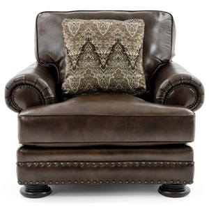 Upholstered Living Room Chair with Nailhead
