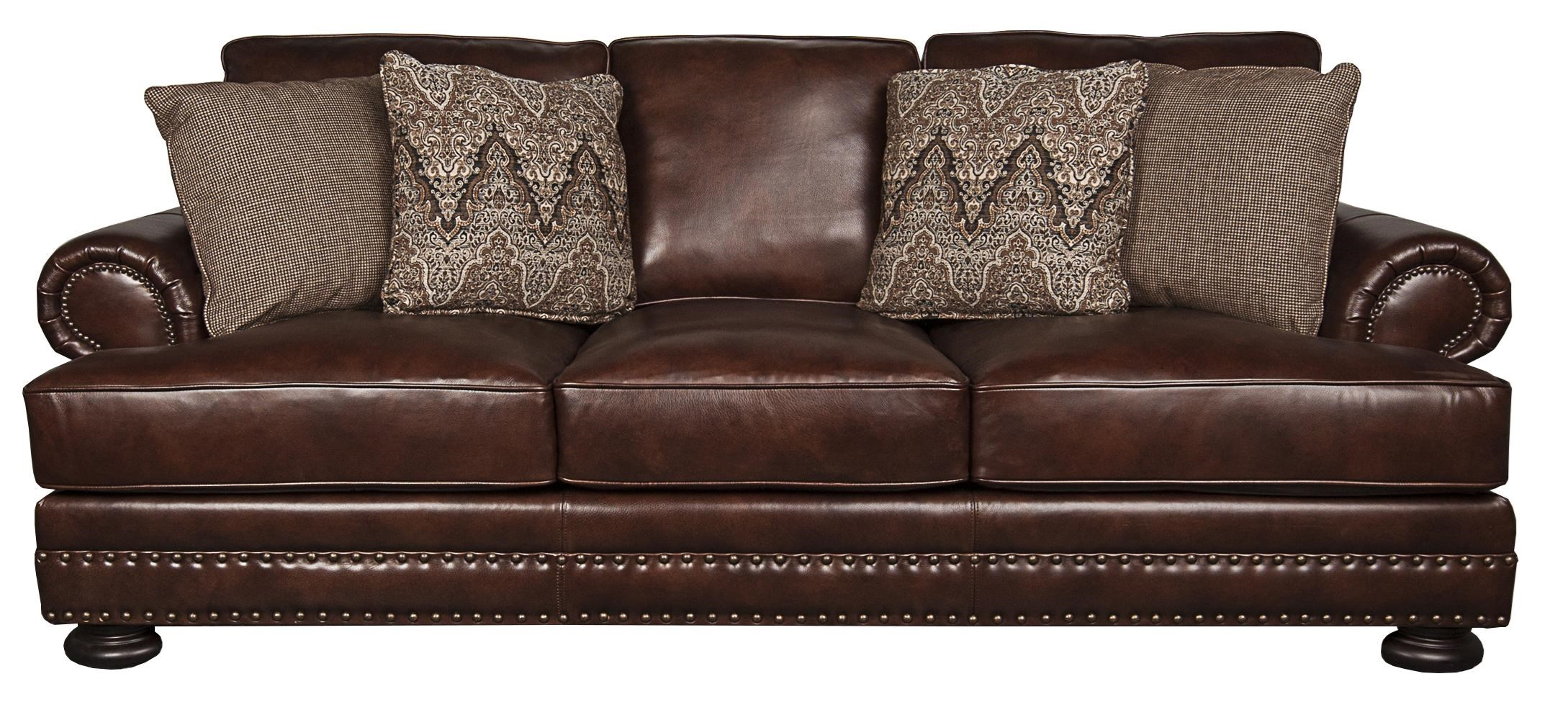 Foster Foster 100% Leather Sofa by Bernhardt at Morris Home