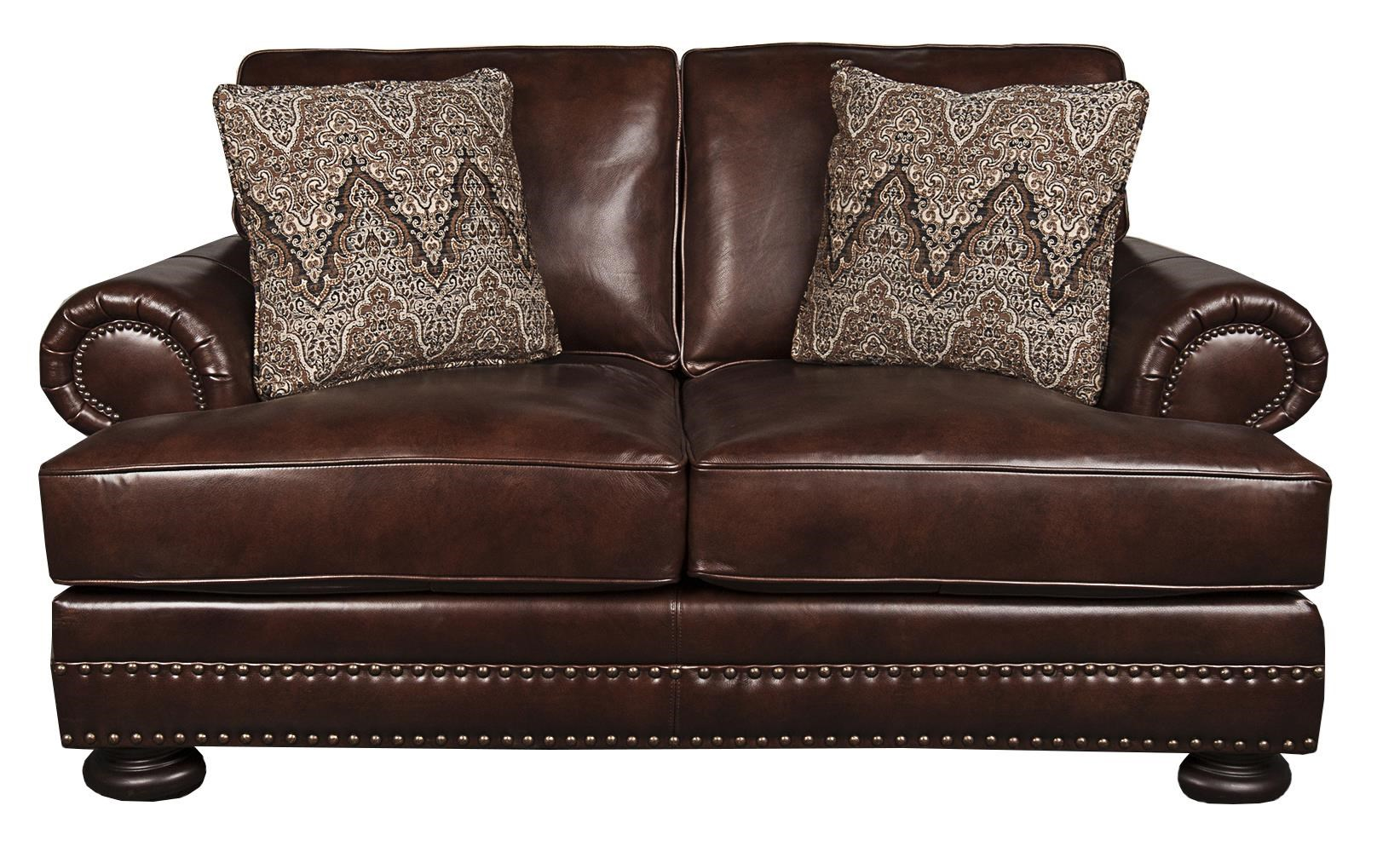 Foster Foster 100% Leather Loveseat by Bernhardt at Morris Home