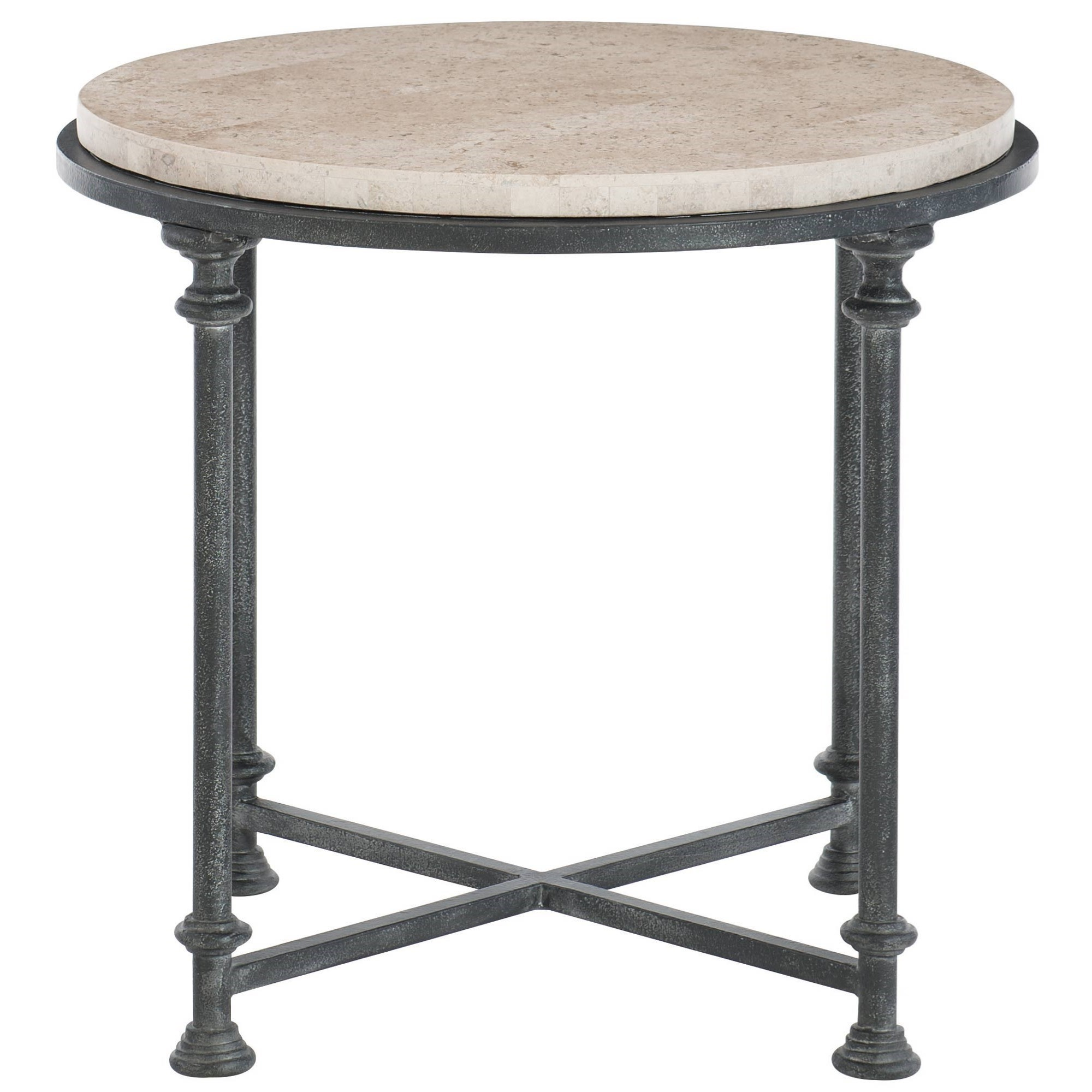 Galesbury Round Metal End Table by Bernhardt at Darvin Furniture