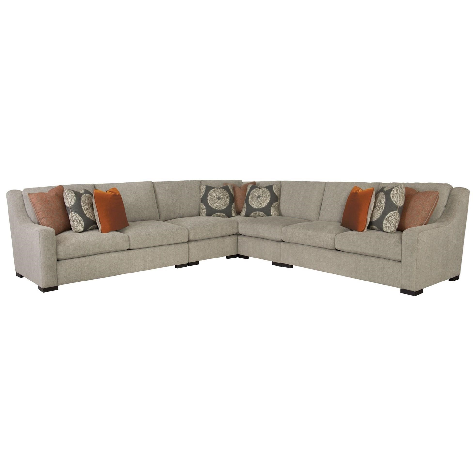 Contemporary Sectional with Spring Down Cushions