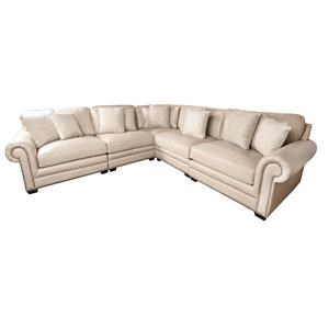 Grandview 100% Leather Sectional Sofa