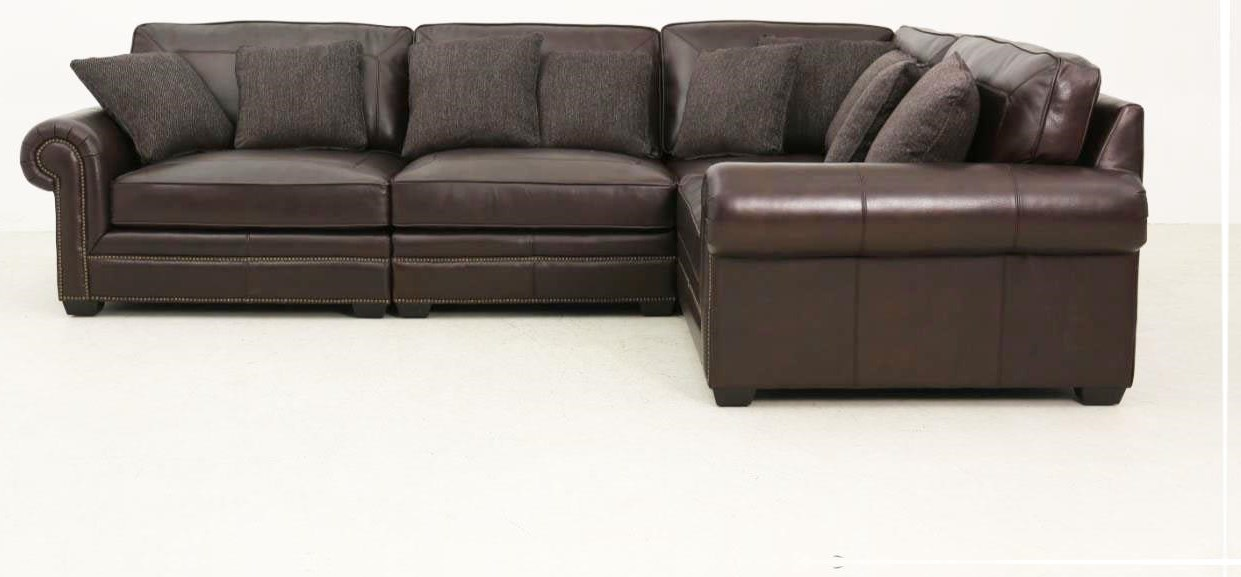 Grandview Brown Five Piece Sectional by Bernhardt at Baer's Furniture